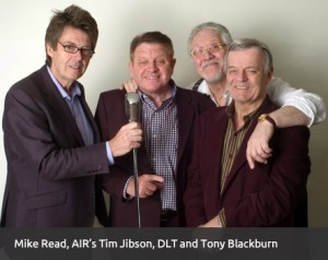 Mike Reid, Tim Jibson, Dave Lee Travis and Tony Blackburn